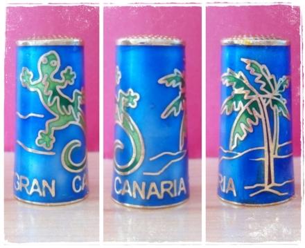 Dedal lagarto Cloissoné Gran Canaria.